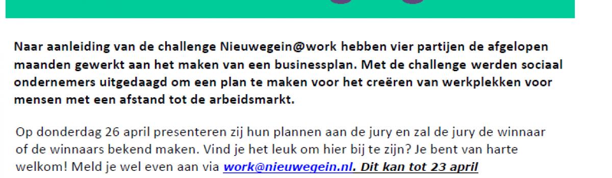 De Challenge SOEP&SLA: een businessplan om banen te creëren voor mensen met een afstand tot de arbeidsmarkt